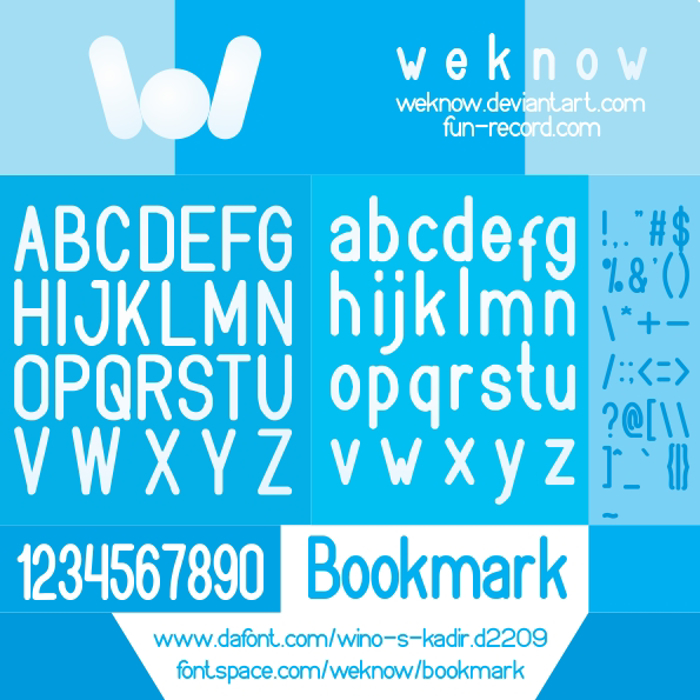bookmark Font poster