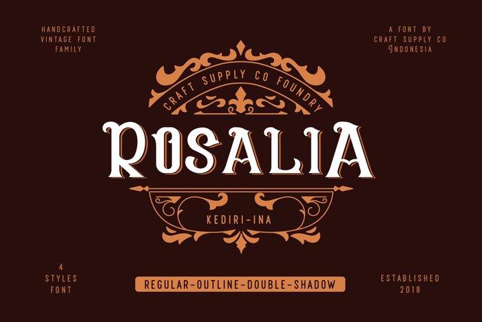 CS Rosalia Font poster