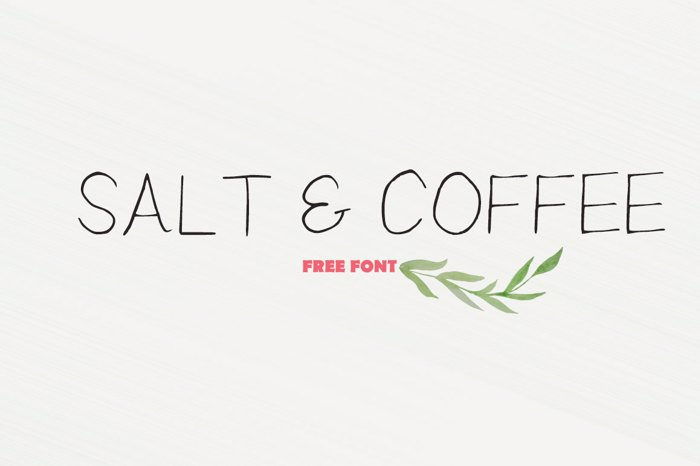 Salt And Coffee Font poster