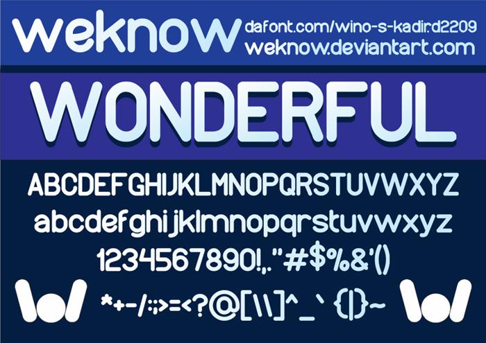 wonderfull Font poster