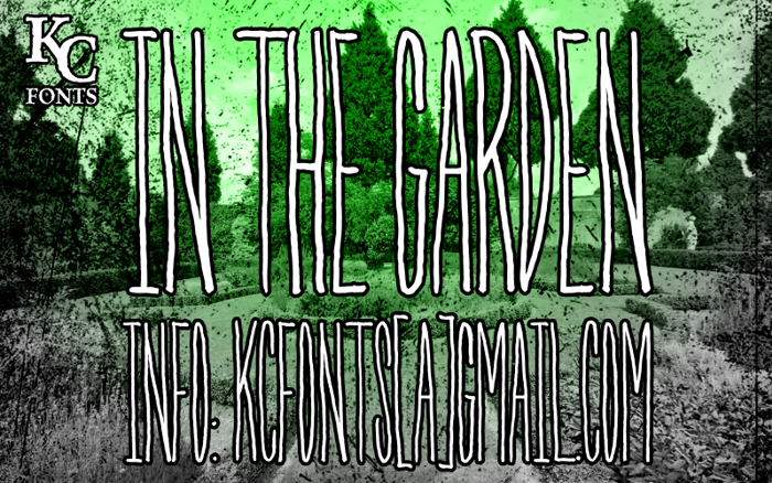 In The Garden Font poster