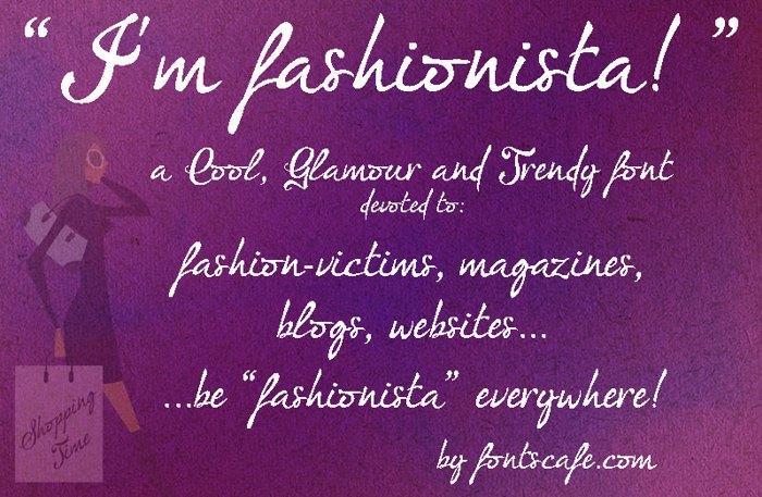 I'm fashionista! Font poster