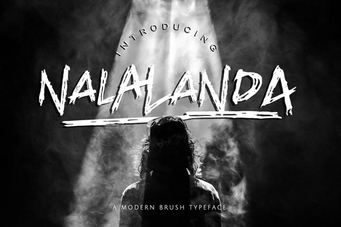 NALALANDA Font poster
