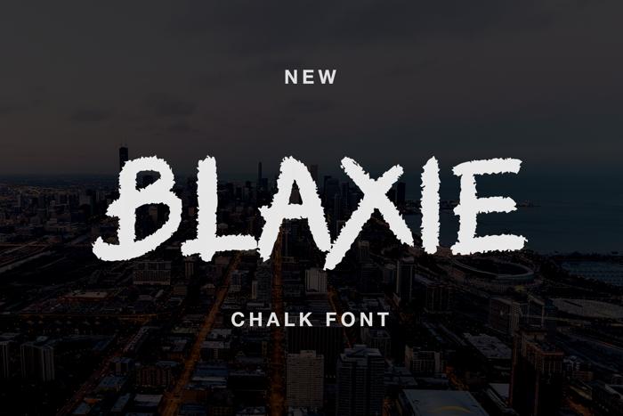 BLAXIE Font poster