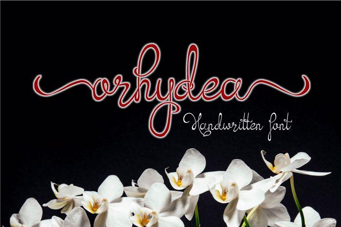 Orhydea Font poster