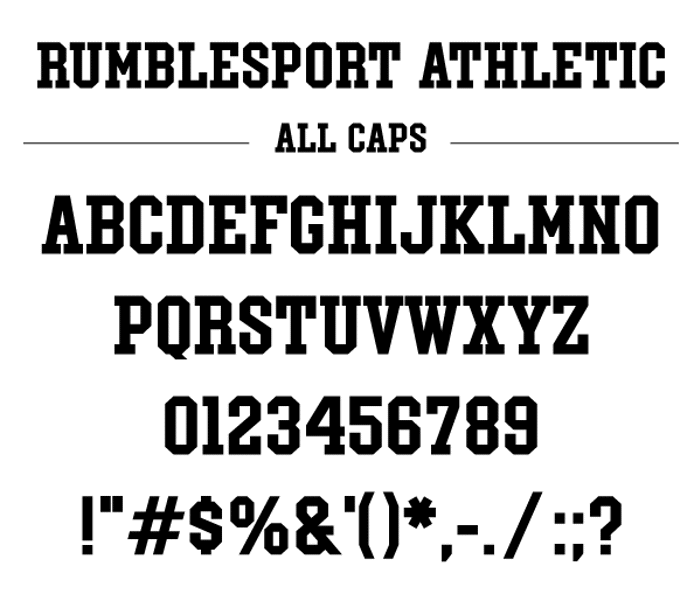 Rumblesport Athletic Font poster