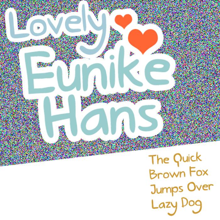 Lovely Eunike Hans Font poster