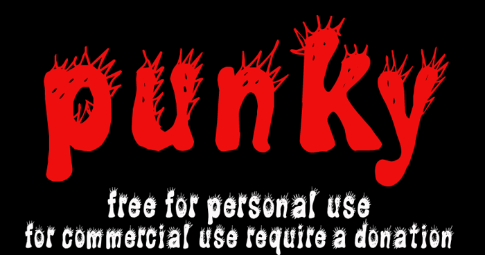 CF Punky Font poster