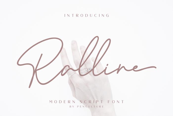 Ralline Font poster