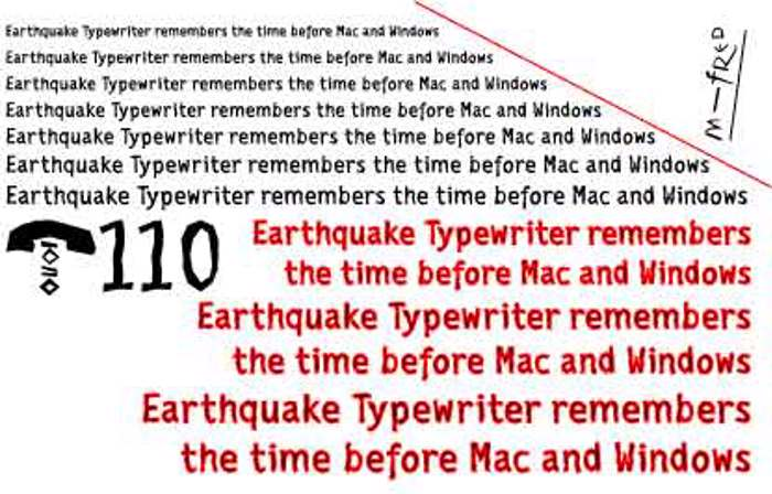 EarthquakeTypewriter Font poster