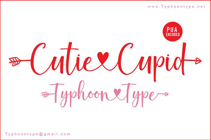 Cutie Cupid - Font poster