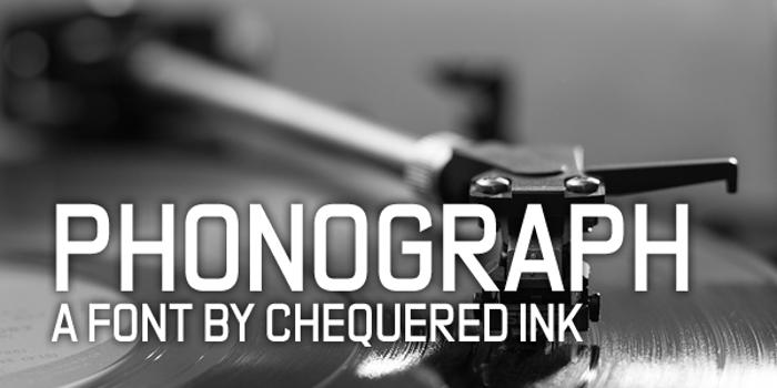 Phonograph Font poster