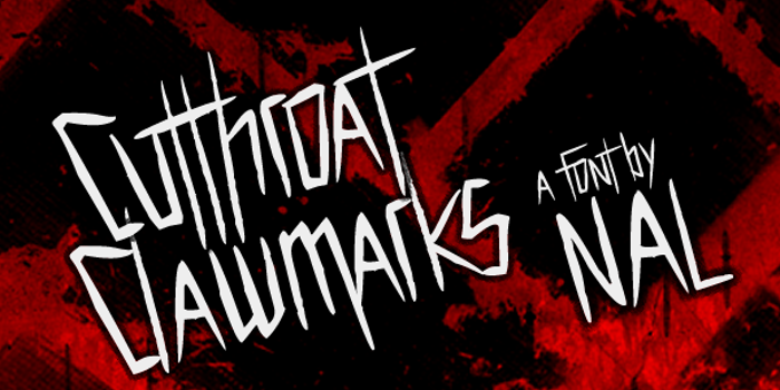 Cutthroat Clawmarks Font poster