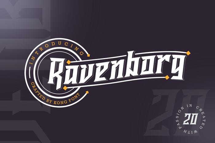Ravenborg Font poster