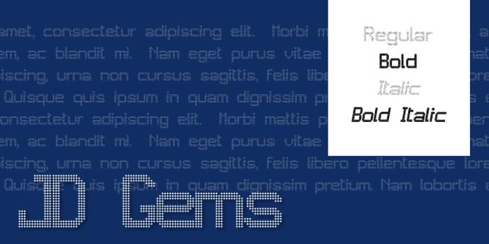 JD Gems Font poster