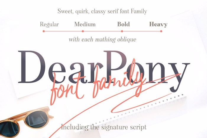 Dear Pony Font poster