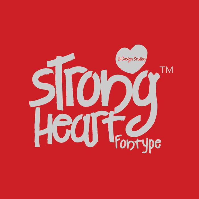 Strong Heart Font poster