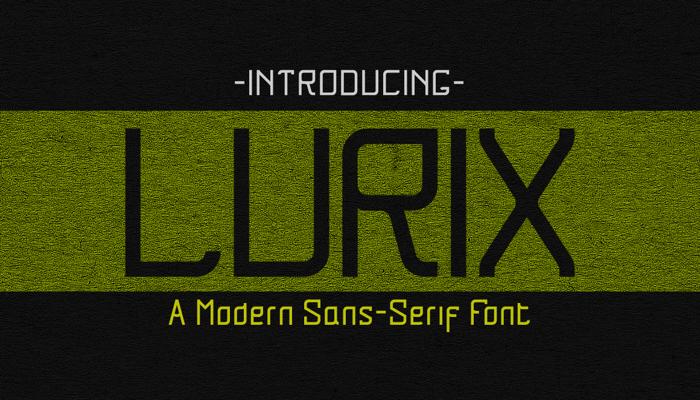 Lurix Font poster