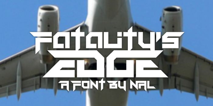 Fatality's Edge Font poster
