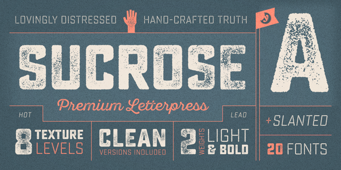 Sucrose Bold Two Font poster
