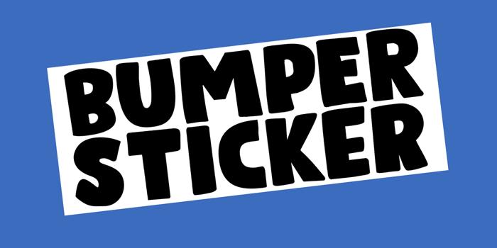 Bumper Sticker Font poster