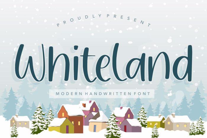 Whiteland Font poster