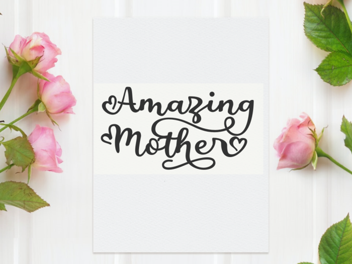 a Amazing Mother Font poster
