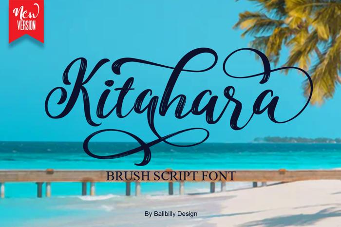 Kitahara Brush Script Font poster