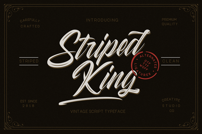 Striped King Clean Font poster