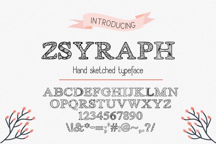 Zsyraph Font poster