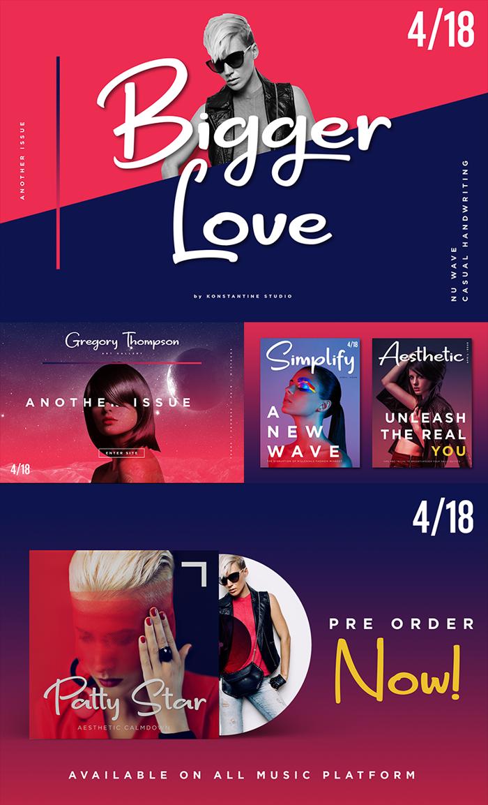 Bigger Love Font poster