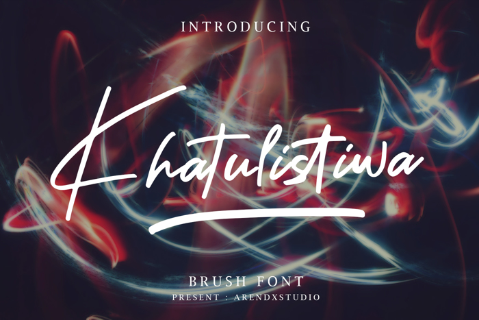 Khatulistiwa Font poster