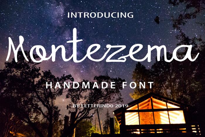 Montezema Font poster