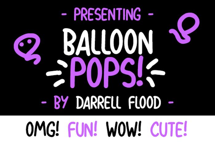 Balloon Pops Font poster