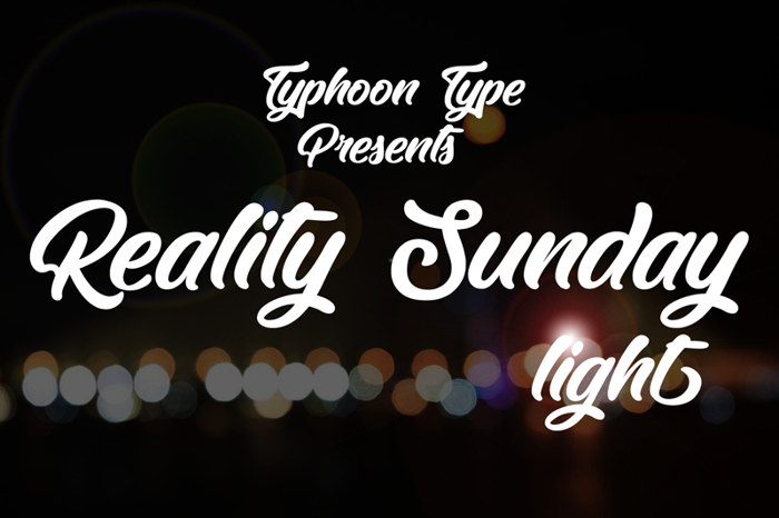 Reality Sunday Font poster