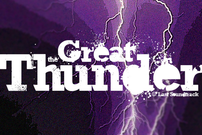 The Great Thunder Font poster