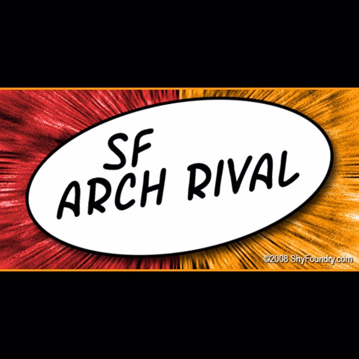 SF Arch Rival Font poster
