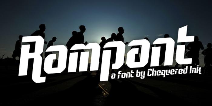 Rampant Font poster
