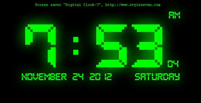 Pixel LCD7 Font poster