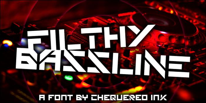 Filthy Bassline Font poster