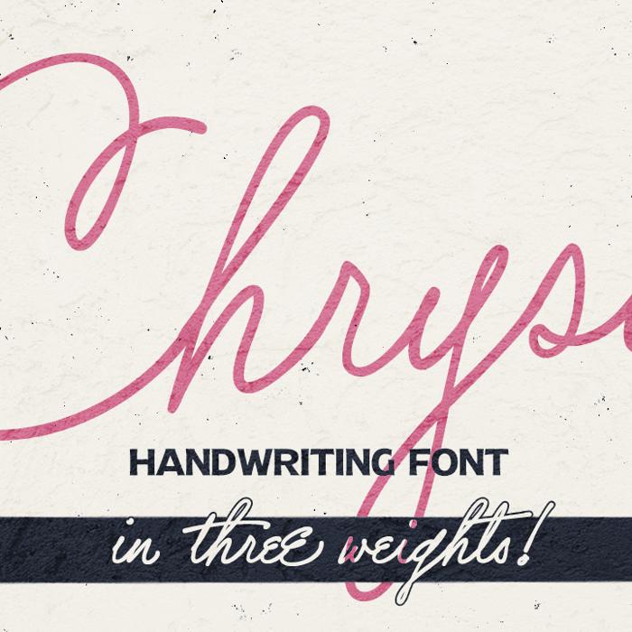 Chrysante Font poster