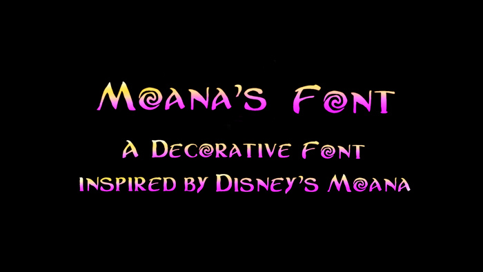 Moanas Font poster