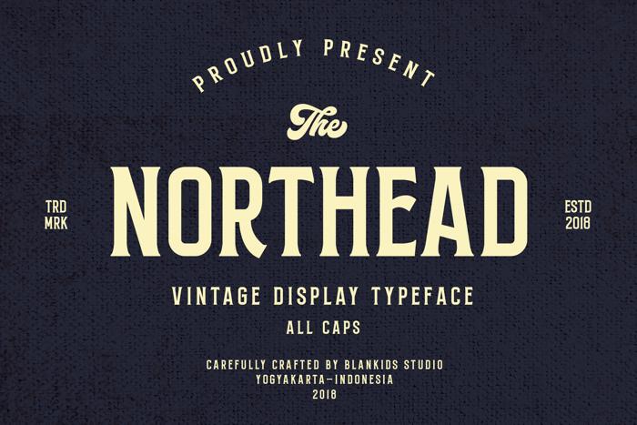 Northead Font poster