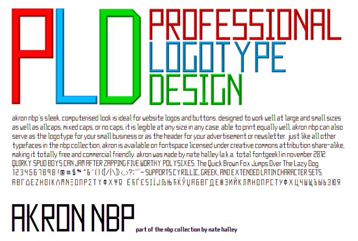 Akron NBP Font poster