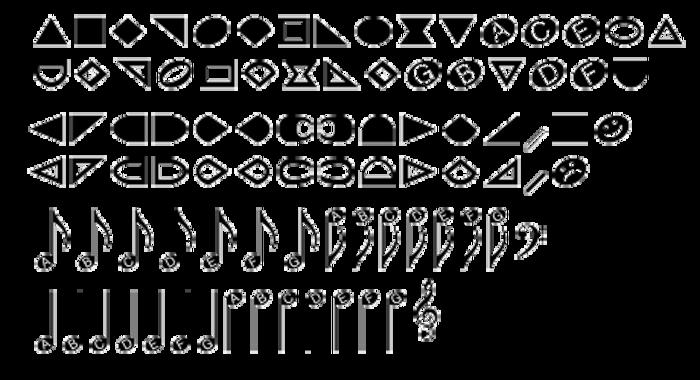 NoteHedz Font poster