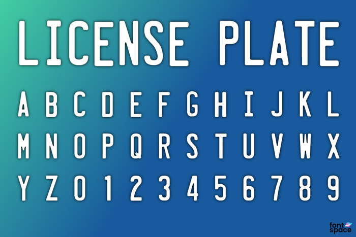 License Plate Font poster