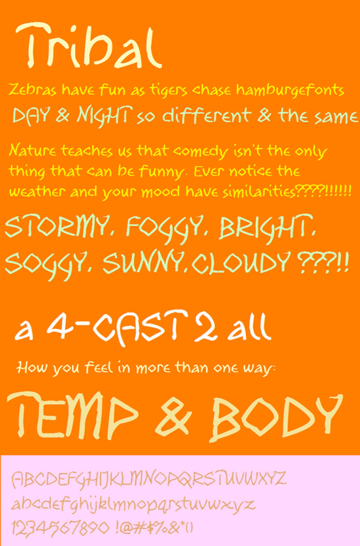Tribal Font poster