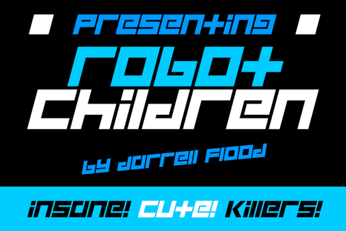 Robot Children Font poster
