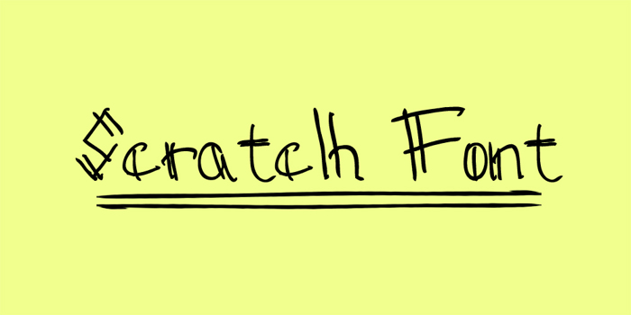 Sctatch Font poster
