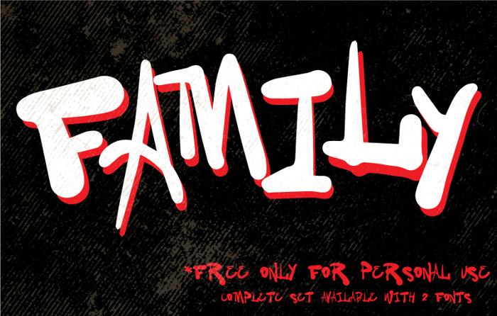 Vtks Family Font poster